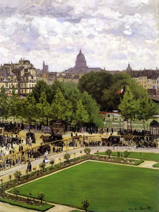 Claude Monet Garden of the Princess, Louvre stretched canvas art print