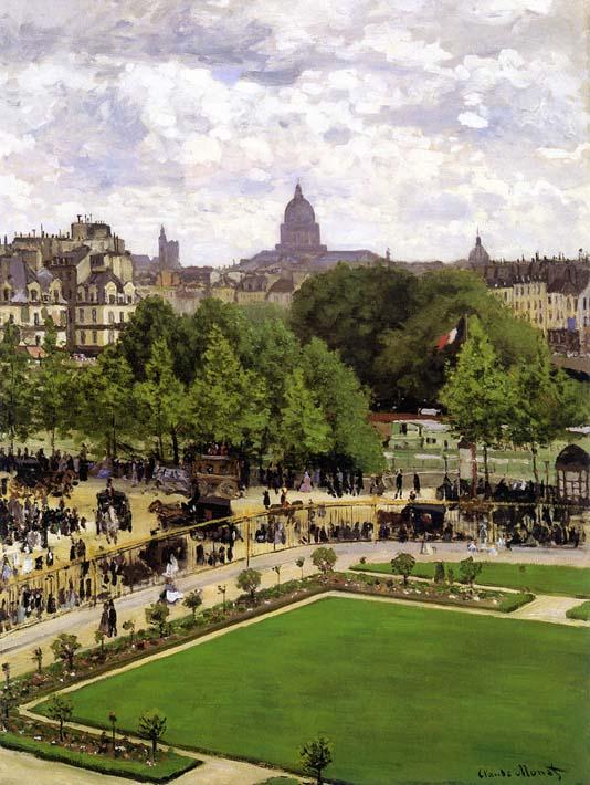 Claude Monet Garden of the Princess, Louvre stretched canvas art print