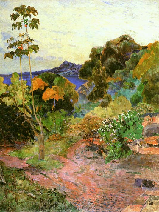 Paul Gauguin Martinique Landscape stretched canvas art print