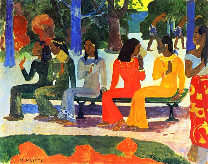 Paul Gauguin We Shall not Go to Market Today stretched canvas art print