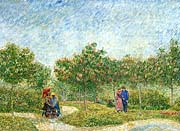 Vincent van Gogh Courting Couples in a Public Park in Asnieres
