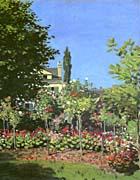 Claude Monet Garden In Bloom canvas prints