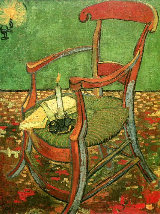Vincent van Gogh Paul Gauguin's Armchair stretched canvas art print