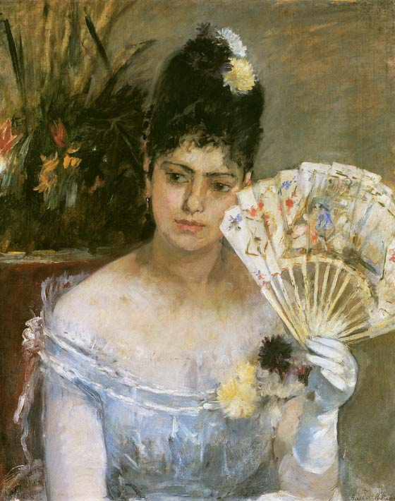Berthe Morisot At the Ball stretched canvas art print