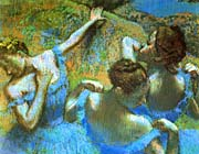 Edgar Degas Blue Dancers (detail)