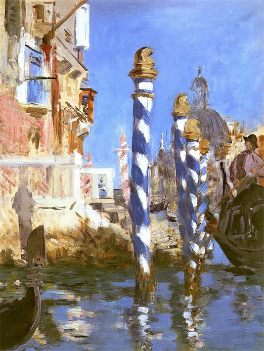 Edouard Manet The Grand Canal - Venice, Italy stretched canvas art print