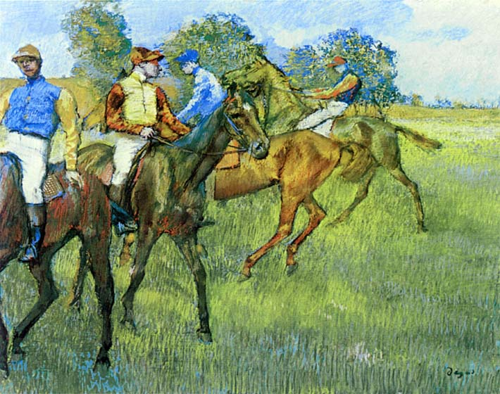 Edgar Degas Race Horses stretched canvas art print