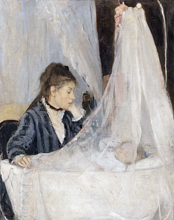 Berthe Morisot The Cradle stretched canvas art print