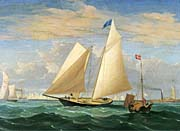 Fitz Hugh Lane The Yacht America Winning the International Race