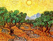 Vincent Van Gogh Olive Trees With Yellow Sky And Sun canvas prints