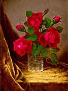 Martin Johnson Heade Jacqueminot Roses canvas prints