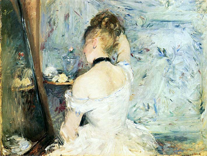 Berthe Morisot Lady at Her Toilette stretched canvas art print
