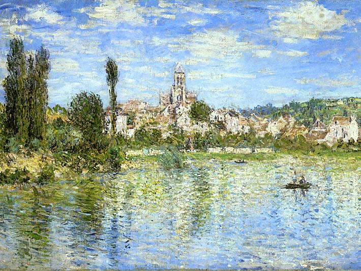 Claude Monet Vetheuil in Summer stretched canvas art print