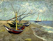 Vincent van Gogh Fishing Boats on the Beach at Saintes-Maries