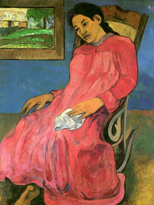 Paul Gauguin The Dreamer stretched canvas art print