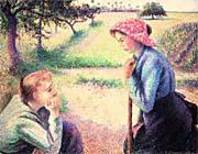 Camille Pissarro The Chat