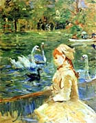 Berthe Morisot Young Girl by the Lake