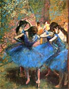 Edgar Degas Dancers In Blue canvas prints