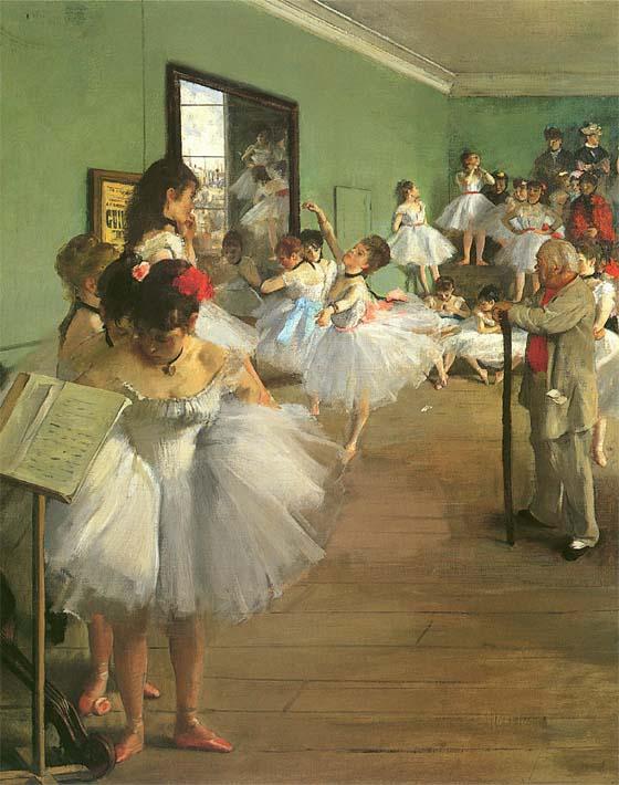Edgar Degas The Dance Class stretched canvas art print