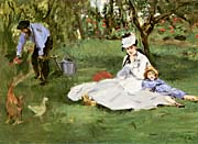 Edouard Manet The Monet Family In Their Garden At Argenteuil canvas prints