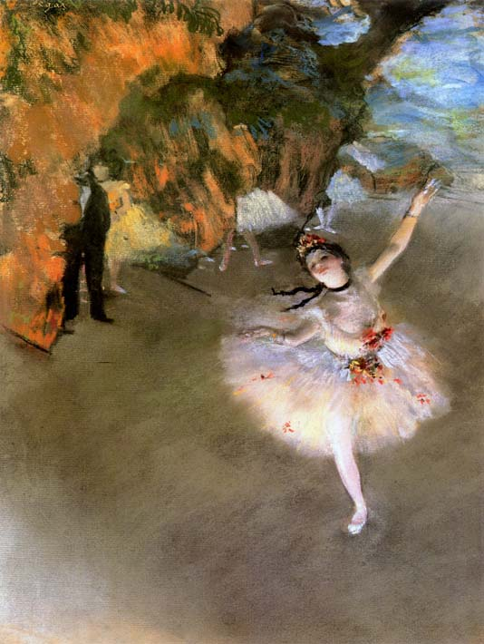 Edgar Degas The Star stretched canvas art print