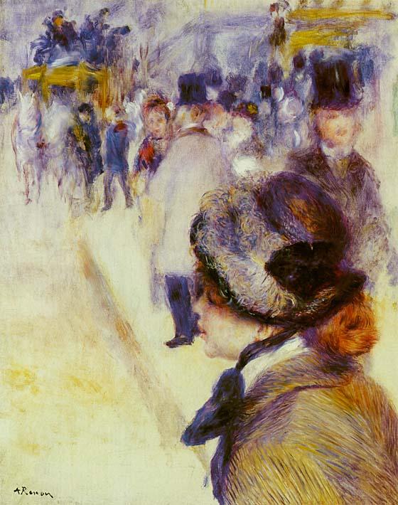 Pierre Auguste Renoir Place Clichy stretched canvas art print