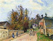 Camille Pissarro The Mailcoach - The Road from Ennery to the Hermitage