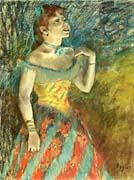 Edgar Degas The Singer in Green
