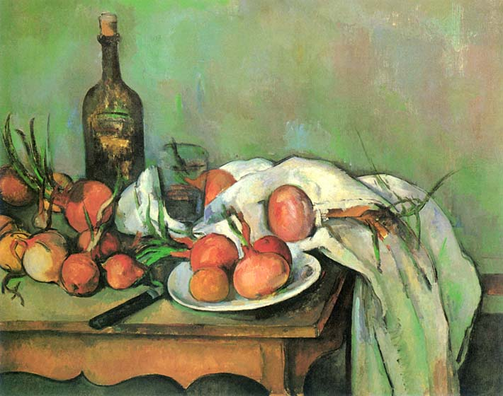 Paul Cezanne Still Life with Onions stretched canvas art print