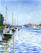 Gustave Caillebotte Boats On The Seine At Argenteuil canvas prints