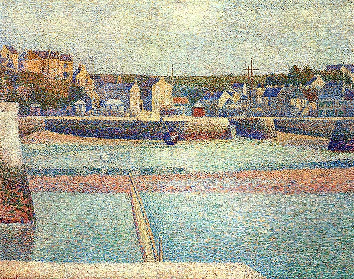 Georges Seurat Port-en-Bessin, The Outer Harbor at Low Tide stretched canvas art print