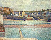 Georges Seurat Port-en-Bessin, The Outer Harbor at Low Tide