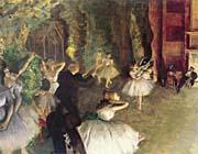 Edgar Degas Ballet Rehearsal On Stage canvas prints