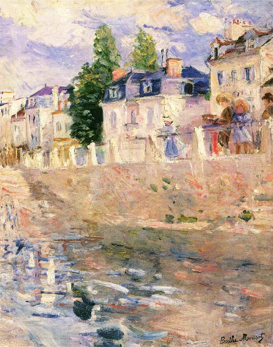 Berthe Morisot The Quay at Bougival stretched canvas art print