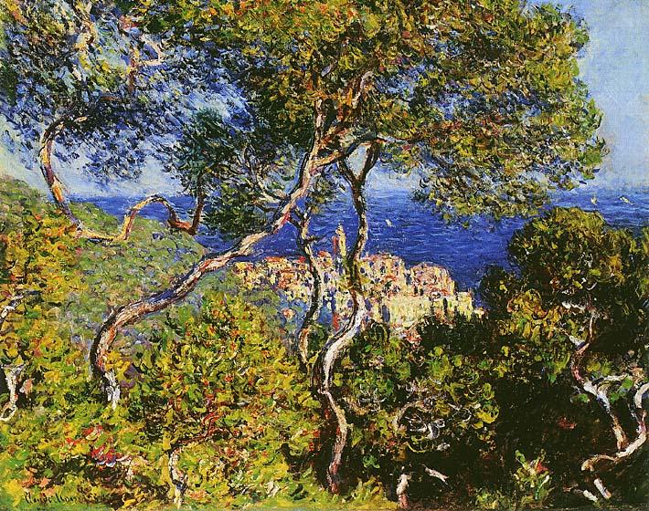 Claude Monet Bordighera stretched canvas art print