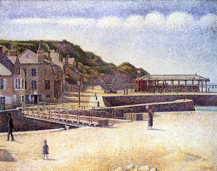 Georges Seurat Port-en-Bessin stretched canvas art print