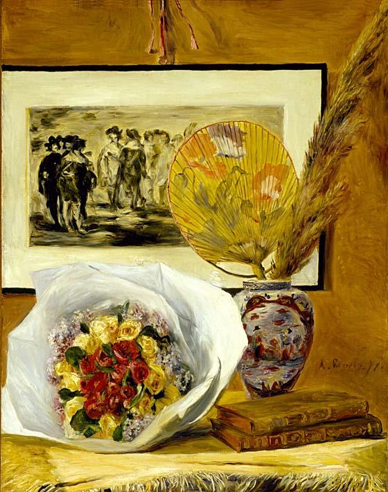 Pierre Auguste Renoir Still Life with Bouquet stretched canvas art print