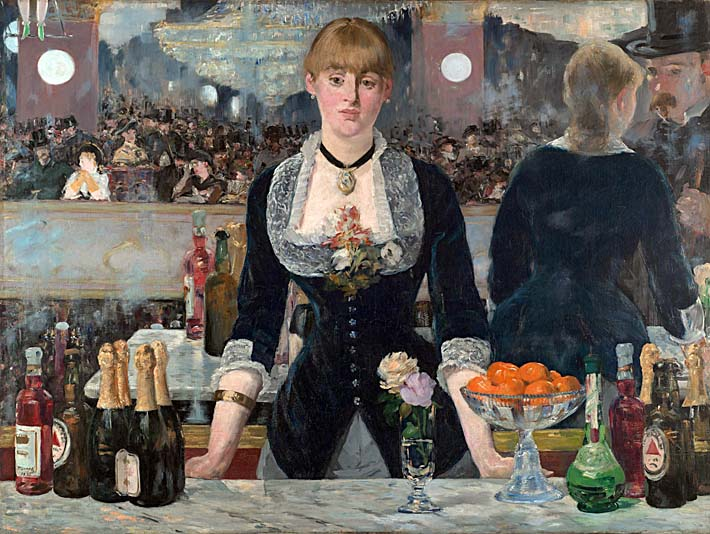 Edouard Manet A Bar at the Folies-Bergere stretched canvas art print
