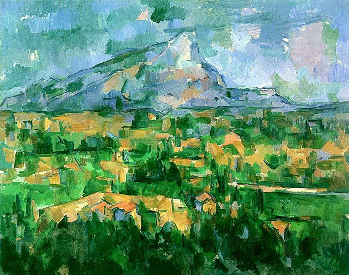 Paul Cezanne Mont Sainte-Victoire 1904 stretched canvas art print