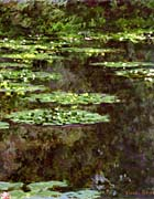 Claude Monet Water Lilies 1904 Portrait Detail canvas prints