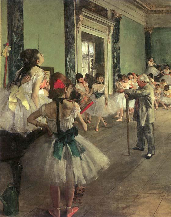 Edgar Degas Dance Class stretched canvas art print