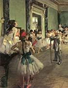 Edgar Degas Dance Class canvas prints