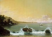 Martin Johnson Heade Rio de Janeiro Bay (left detail)