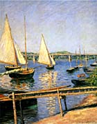 Gustave Caillebotte Sailing Boats At Argenteuil canvas prints