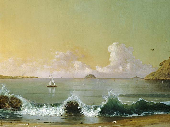 Martin Johnson Heade Rio de Janeiro Bay (right detail) stretched canvas art print