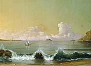 Martin Johnson Heade Rio de Janeiro Bay (right detail)