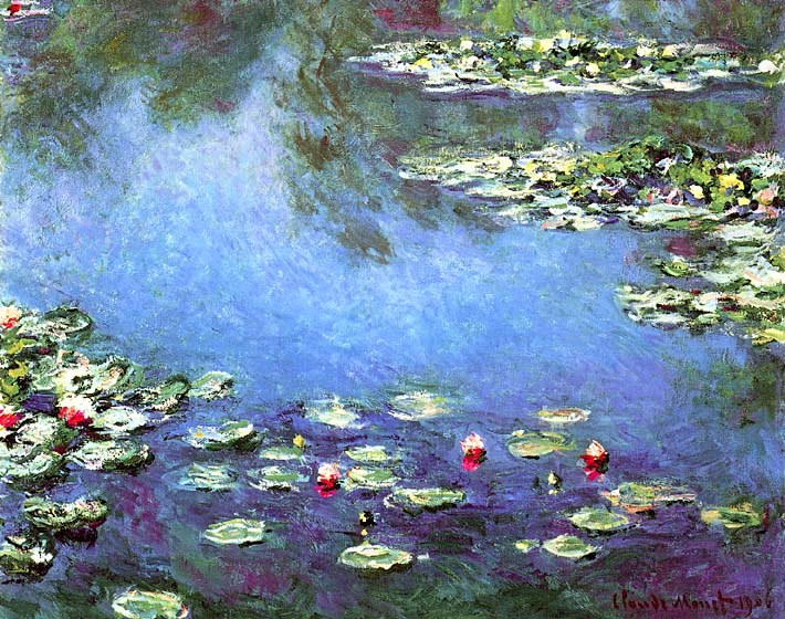 Claude Monet Water Lilies 1906 (detail) stretched canvas art print