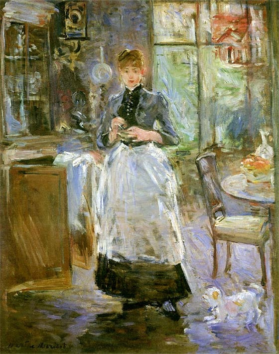 Berthe Morisot In the Dining Room stretched canvas art print