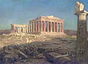 Frederic Edwin Church The Parthenon (detail)