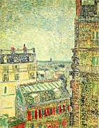 Vincent Van Gogh Paris Seen from Vincent's Room in the Rue Lepic
